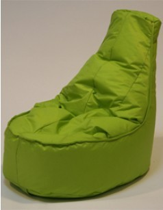 Pouf chaise en nylon FUN, coloris lime
