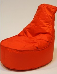 Pouf chaise en nylon FUN, coloris Orange