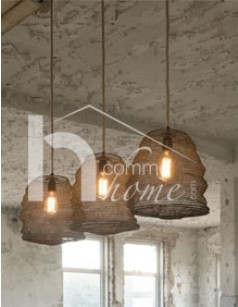 Suspension industrielle marron LETO