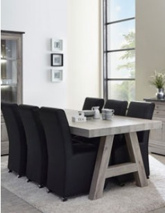 Table contemporaine coloris chêne gris SALSA 4