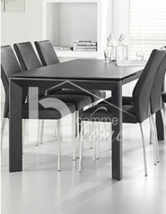 table manger extensible design noire en verre jimmy - Table De Salle A Manger Extensible
