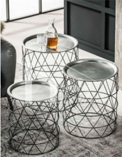 Table d'appoint design en acier ALYSON