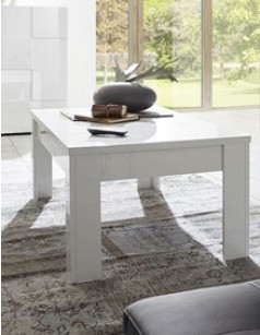 Table basse design blanc laqué ATMORE