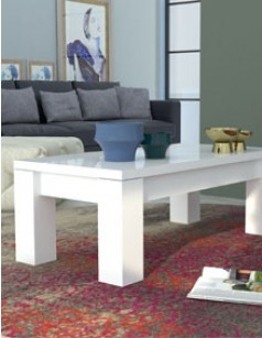 Table basse blanc laqué design BETTY