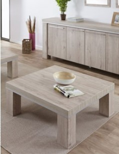 Table basse carr e contemporaine couleur ch ne clair nati - Table carree chene clair ...