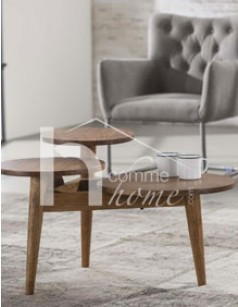 Table basse contemporaine en acacia ANDREW