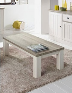 Table basse contemporaine couleur chêne blanc JEANNE 2
