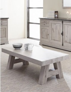 Table basse contemporaine coloris chêne gris SALSA
