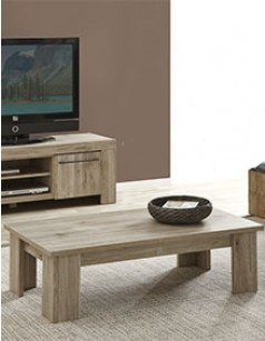 Table basse contemporaine couleur bois clair IRIS