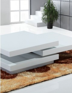 Table basse design blanc laqué BELLA