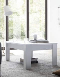 Table basse design blanc laqué FLAVIA