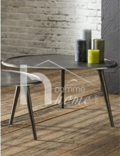 Table basse design en métal BURT 2
