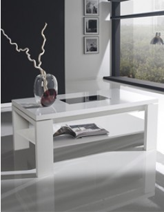 Table basse relevable contemporaine CELESTINA, disponible en 3 coloris