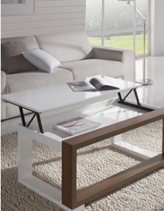 Table basse relevable contemporaine FETA, disponible en 2 coloris