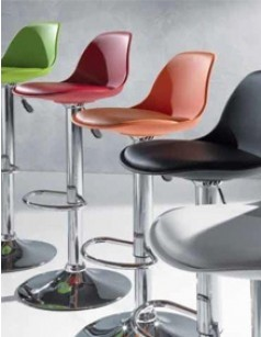 Tabouret de bar design pivotant NALDO, disponible en 5 coloris