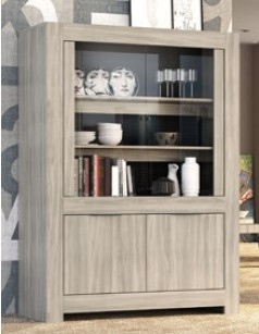 vaisselier contemporain couleur ch ne clair trevise. Black Bedroom Furniture Sets. Home Design Ideas