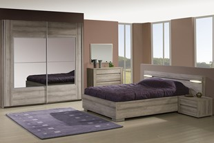 Chambre adulte compl te contemporaine au style pur for Chambre a coucher contemporaine bois massif
