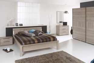 Chambre contemporaine couleur chêne naturel RICHARD