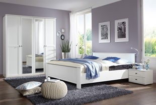 chambre adulte compl te contemporaine au style pur. Black Bedroom Furniture Sets. Home Design Ideas