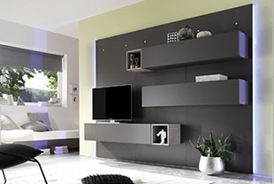 ensemble tv mural un ensemble de meubles pour votre salon. Black Bedroom Furniture Sets. Home Design Ideas