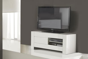 meuble tv design blanc laqu totti - Meuble Tv Design Blanc Laque Aphodite