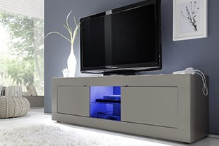 Meuble TV design taupe LOBBY 2