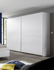 Armoire penderie design blanche   HcommeHome