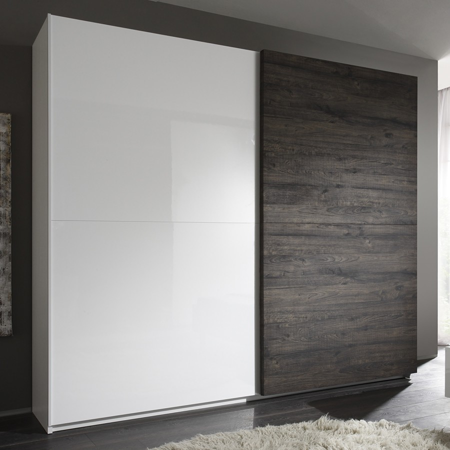 Armoire adulte contemporaine 2 portes coulissantes BROCELIA ...