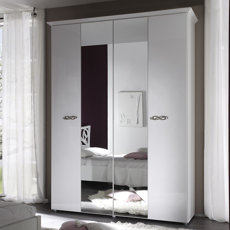 armoire blanche pas cher armoire haute portes battantes. Black Bedroom Furniture Sets. Home Design Ideas