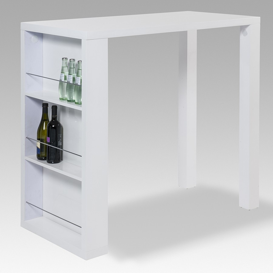 Bar design laqué blanc high gloss CASTELO