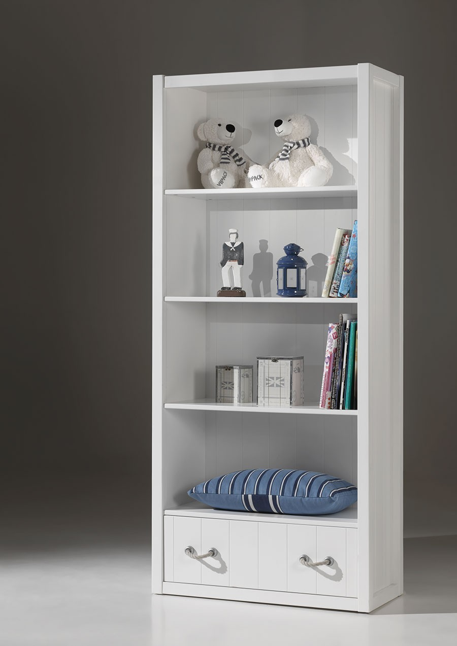 biblioth que enfant design blanche. Black Bedroom Furniture Sets. Home Design Ideas