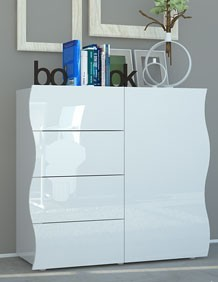 Buffet pas cher blanc laqué SWELL - HcommeHome