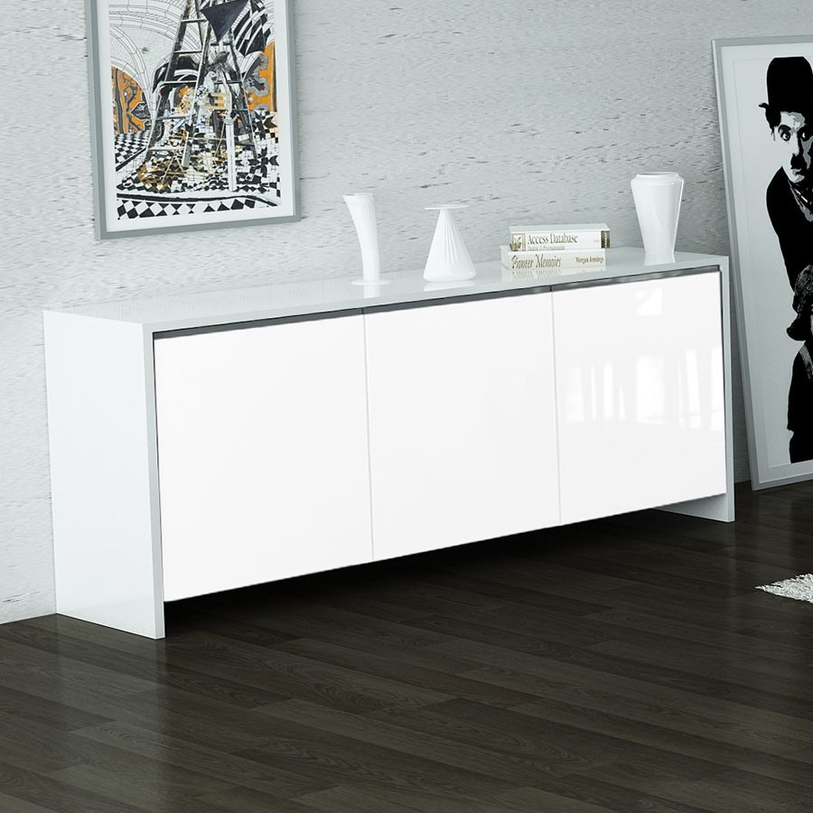 buffet blanc laque pas cher buffet haut emerson ii portes mdf laqu blanc leds with buffet blanc. Black Bedroom Furniture Sets. Home Design Ideas