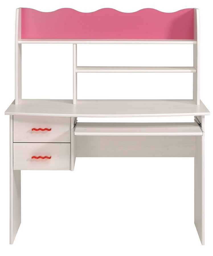 bureau fille rose et blanc. Black Bedroom Furniture Sets. Home Design Ideas
