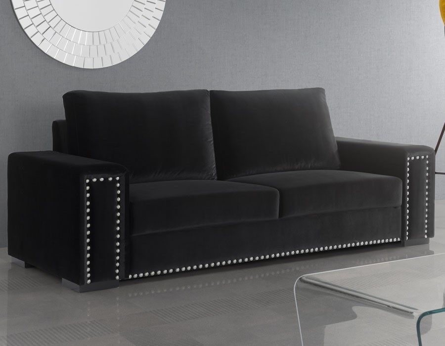canap velours noir zakelijksportnetwerkoost. Black Bedroom Furniture Sets. Home Design Ideas