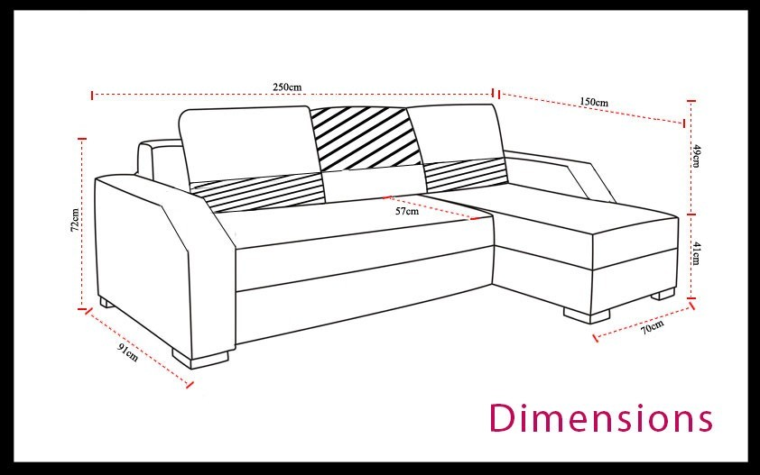 dimension canape angle maison design. Black Bedroom Furniture Sets. Home Design Ideas