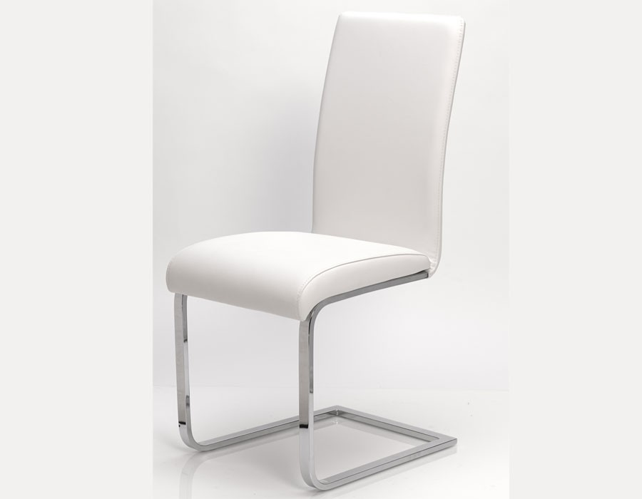 Chaise salle a manger blanche for Chaises salle a manger blanches design