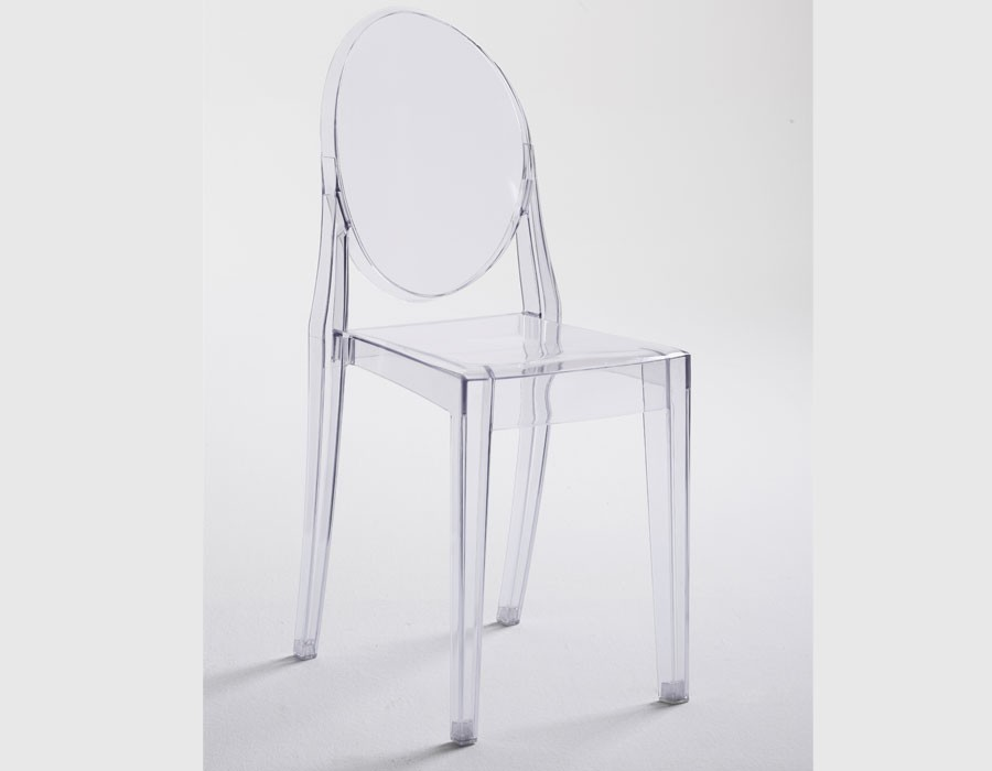 Chaise transparente design en polycarbonate FLOCA (lot de 4)