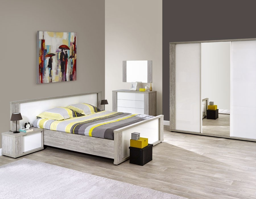 Beautiful chambre a coucher gris et blanc photos design for Catalogue chambre a coucher moderne