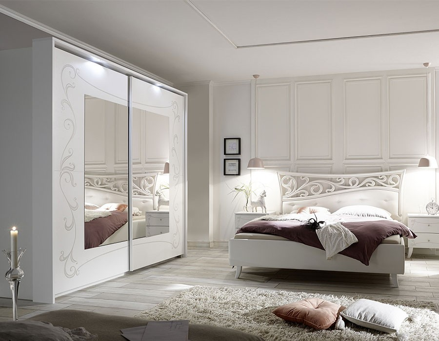 Chambre adulte design blanche | HcommeHome