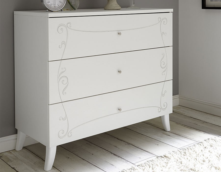 Commode blanche adulte design ADELAIDE