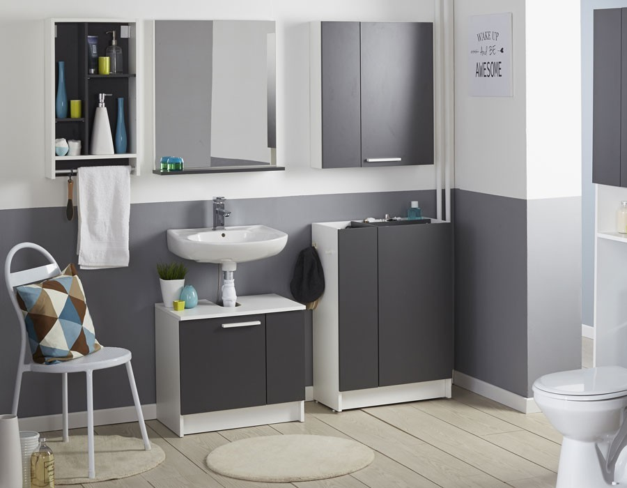 Best salle de bains blanc gallery awesome interior home for Commode de salle de bain blanc