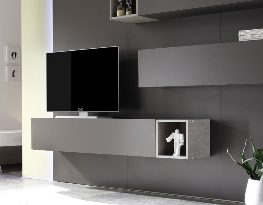 Meuble tv ferme moderne sammlung von design for Meuble tv tendance