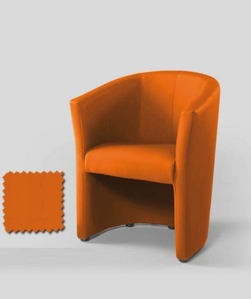Fauteuil cabriolet contemporain CARMELO Orange