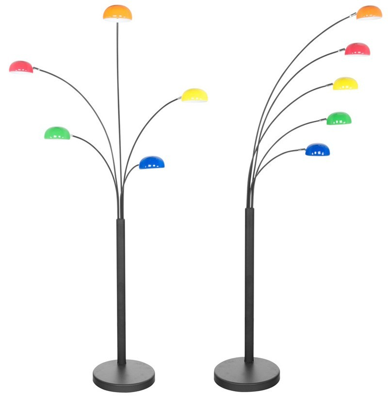 Lampadaire 5 branches OREDON COLOR, multicolore