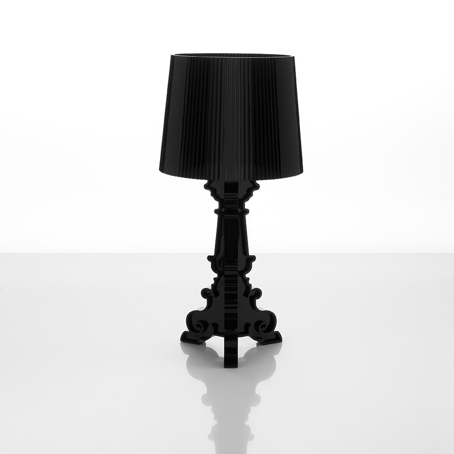 Lampe à poser design TRIPTA, coloris noir ou transparent