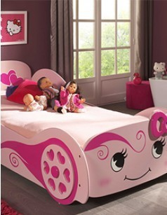 Lit enfant voiture rose KITTY