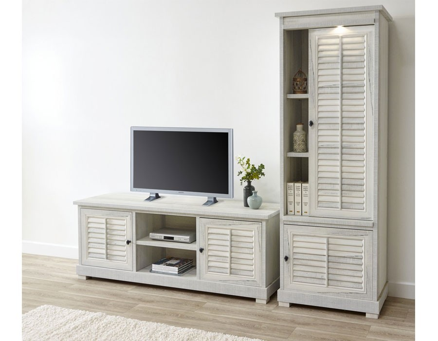 meubles bois blanc vieilli. Black Bedroom Furniture Sets. Home Design Ideas