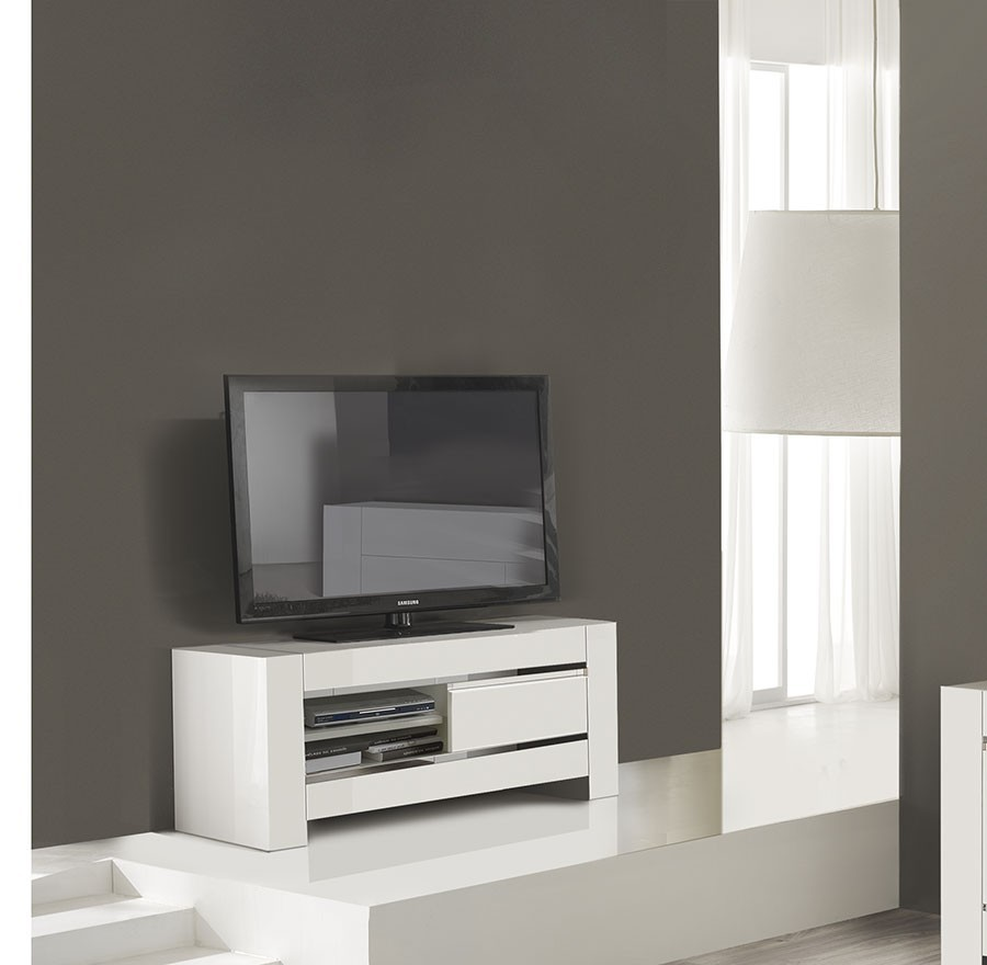 Petite Table Tv Design Totti 3 # Grand Meuble Tv Blanc Laque