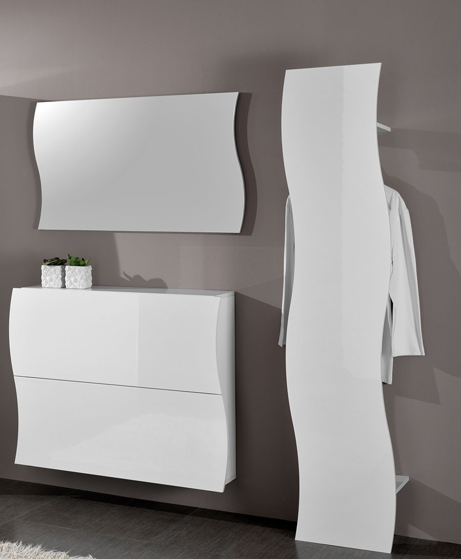 meuble dentre miroir blanc laqu design swell
